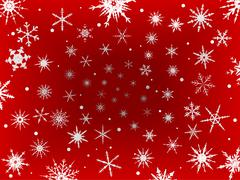Frosted Snow Border - Red Stock Illustration