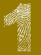 Fingerprint Alphabet - Number 1 - stock illustration