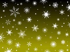 Snow Border Yellow Stock Illustration