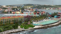 Curacao Willemstad 060 city view from above with Queen Juliana Bridge Stock Footage