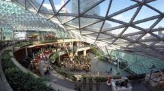 Złote Tarasy shopping mall in Warsaw poland time lapse Stock Footage