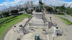Monument to the Independence of Brazil in Ipiranga Museum, Sao Paulo, Brazil Stock Footage
