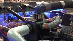 4k DeLorean DMC-12 time machine zoom out Stock Footage