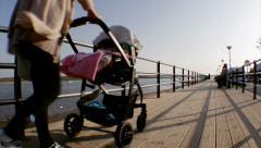 Algarve - Cabanas de Tavira Maritime Walkway A2 Stock Footage