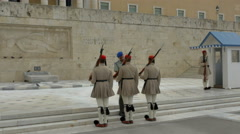 Athens Syntagma Square, Greece Changing the Guard Inspection - 4K 035 Stock Footage