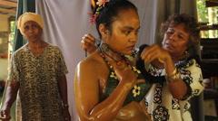 Paulan Hot Bath Ceremony PALAU Stock Footage