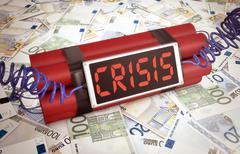 concept of economic crisis - stock illustration