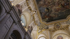 Madrid. Spain. Ceiling of the Royal Palace Stock Footage