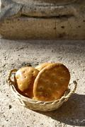 Italian food, dried cakes in a basket Stock Photos