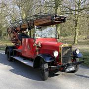 Magirus old timer fire truck. - stock photo