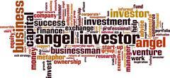 Angel investor word cloud - stock illustration