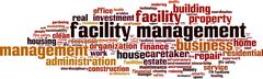 Facility management word cloud - stock illustration