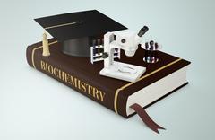 university, faculty of biochemistry - stock illustration