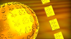 3D animation, The currency symbol 03 Stock Footage