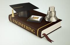 University, faculty of engineering Stock Illustration