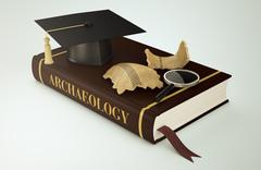 university, faculty of archaeology - stock illustration