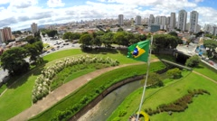 Brazilian waving flag - Latin America Stock Footage