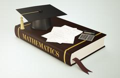 university, faculty of mathematics - stock illustration