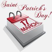 Calendar17 March Saint Patrick's Day Stock Illustration