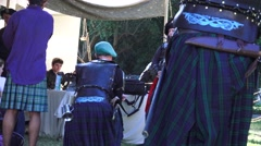 Scottish, Dress and weapons of Scotland - stock footage