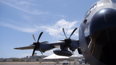 Storm chaser - hurricane hunter plane C-130 4 of 7 Stock Footage
