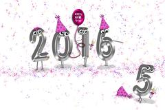 New Year 2016 party humor Stock Illustration