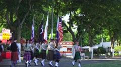 Scottish, Opening flag ceremony - stock footage