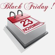 Calendar Black friday Stock Illustration