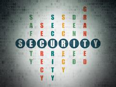 Safety concept: word Security in solving Crossword Puzzle Stock Illustration