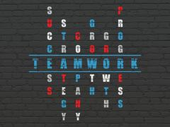 Business concept: word Teamwork in solving Crossword Puzzle Stock Illustration
