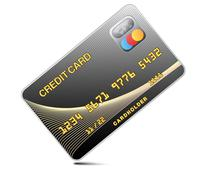 Icon credit card black isolated on a white background.Vector Stock Illustration