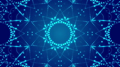 blue abstract motion background, kaleidoscope, loop - stock footage
