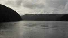 Beautiful Rock Islands of  PALAU Early Morning Stock Footage