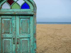 door to paradise - stock photo