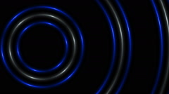 Stock Video Footage of blue and white circles on a black background, loop