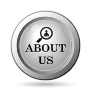 Stock Illustration of About us icon. Internet button on white background..