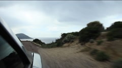 Coast Car Ride Corsica Stock Footage