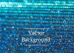 Stock Illustration of Blue vector background with sparkles and bokeh.