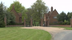 Stock Video Footage of Gated entrance to Chequers the country house of the Prime Minister of the UK.