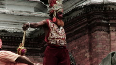 Religious Shaman in Nepal Stock Footage
