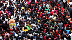 Massive Crowd Swaying at Macchindranāth Stock Footage