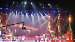 A group Bravo performing on stage during the Annual Award Ceremony - stock footage