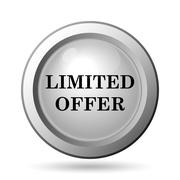 Stock Illustration of Limited offer icon. Internet button on white background..
