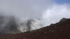 4k Clouds at rocky mountain Pico do Arieiro in Madeira Stock Footage