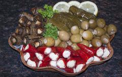 Mediterranean Appetizers - stock photo
