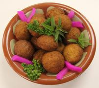 Middle Eastern Falafel Balls - stock photo