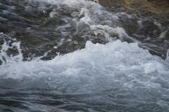 River Water Crashing Closeup - stock photo