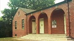 Green McAdoo School Bld tilt Stock Footage