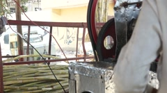 Sugar cane juice process Stock Footage