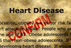 Heart disease - confirm - stock illustration